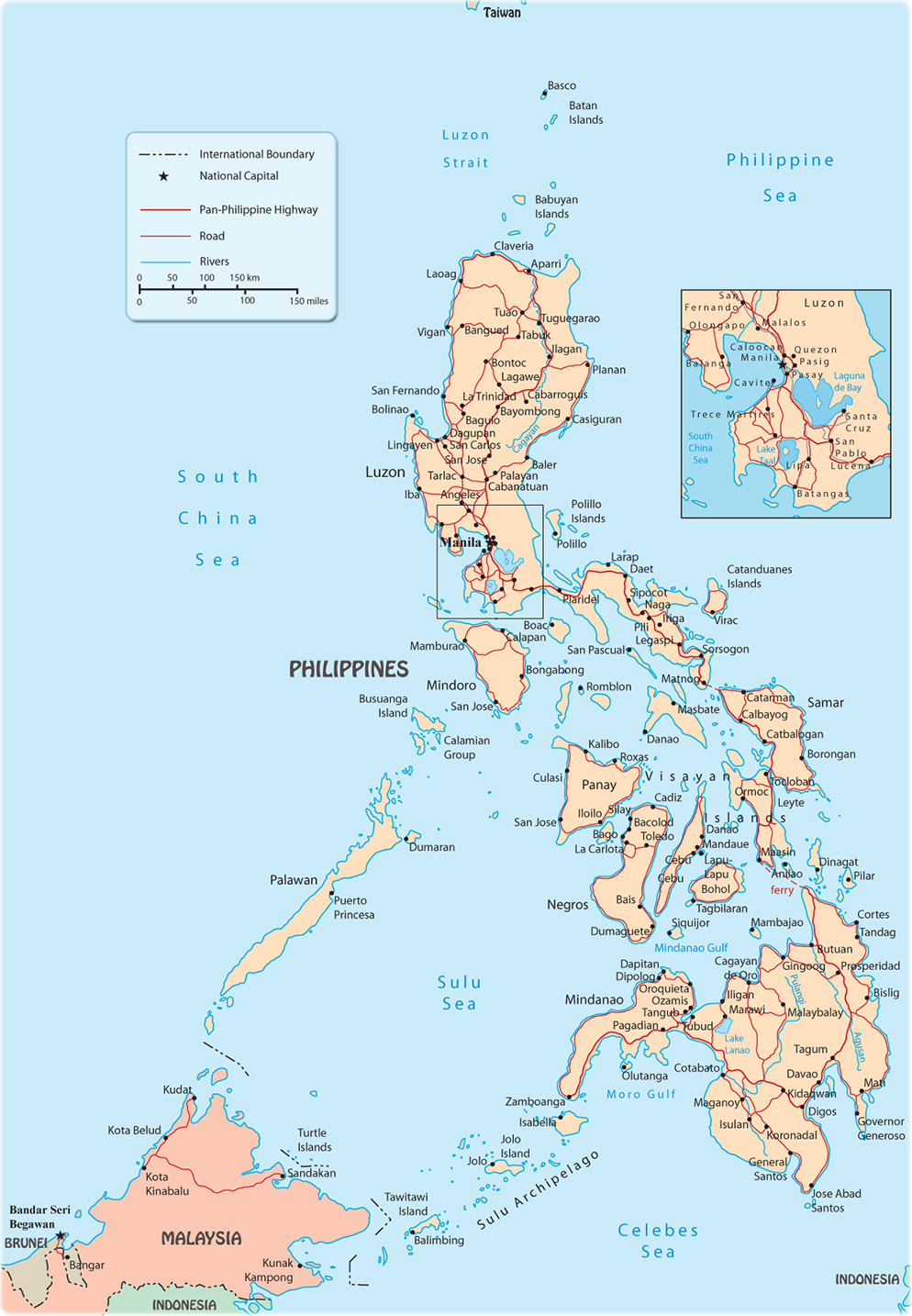 Map Of Manila Philippines Philippines Map, Manila   Asia