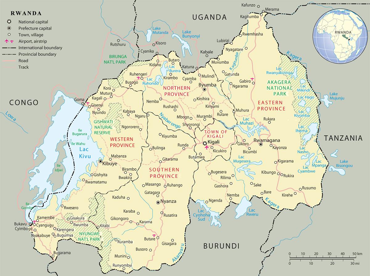 Map Of Rwanda Map of Rwanda   Travel Africa