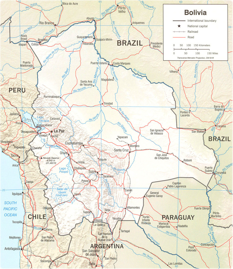 Map of Bolivia - La Paz, Lake icaca Image Map Of South America Lago Caca on