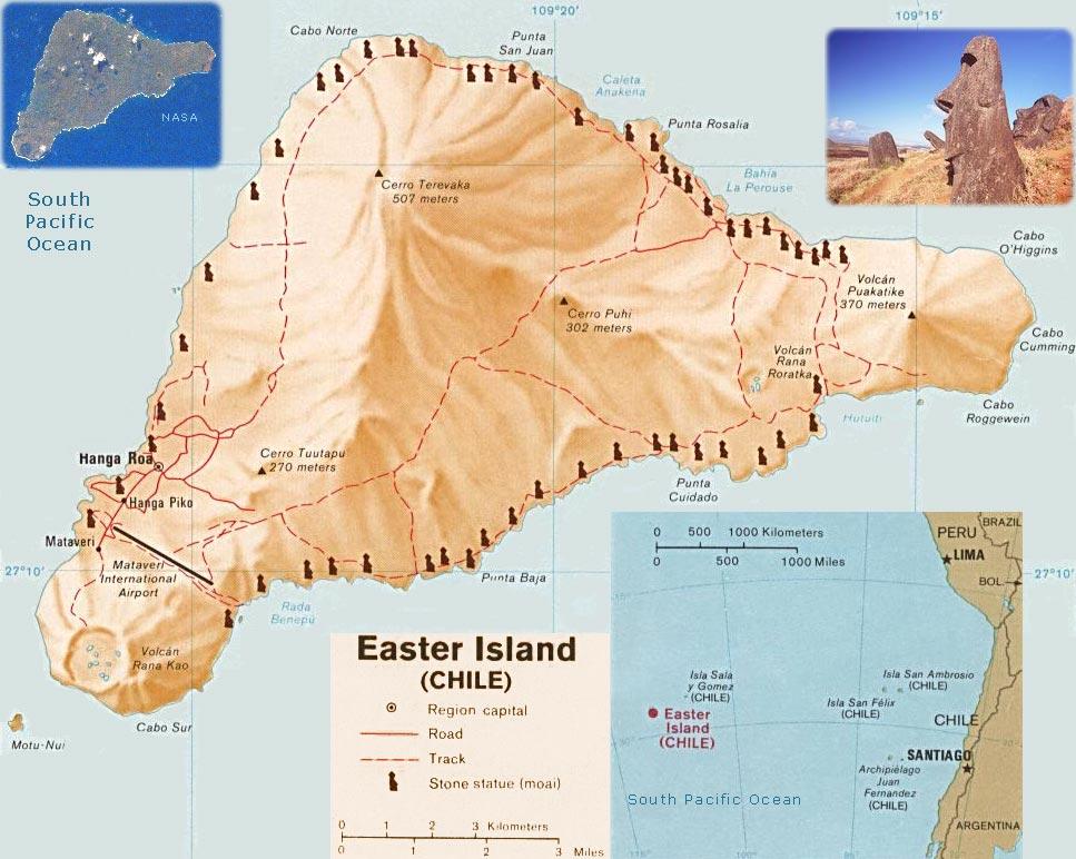 Map Of Easter Island Isla Da Pascoa