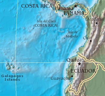 Map of Galapagos Islands- San Cristóbal, Isabela, Santa Cruz Map Of Galapagos Islands on