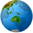 Globe - Oceania Pacific Islands