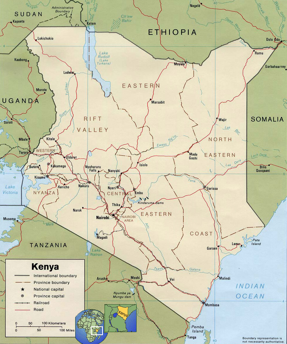 Map Of Kenya Africa Map of Kenya   Nairobi   Travel Africa