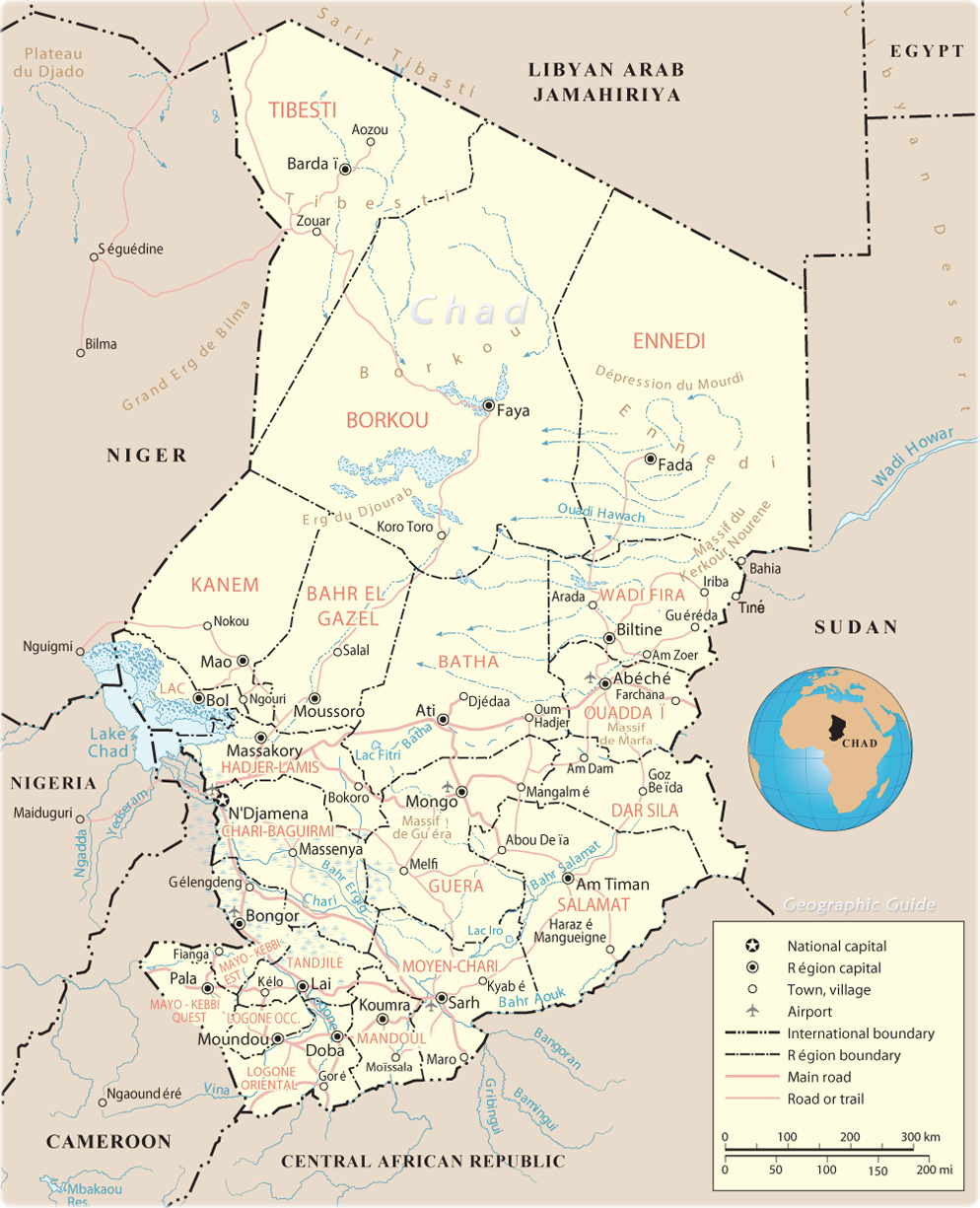 Chad Africa Map Map of Chad   Travel Africa