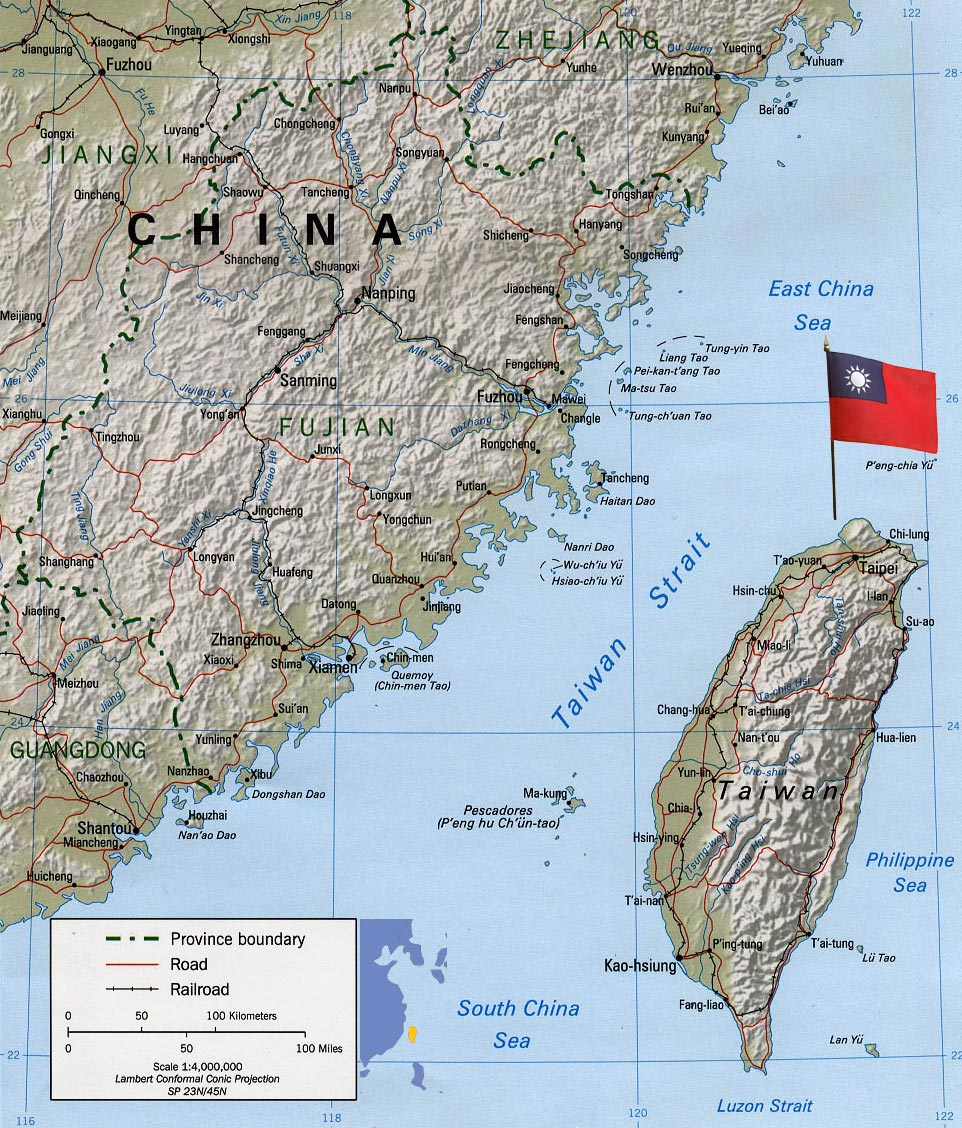 Taiwan Map Asia Taiwan Map, Taipei   Asia