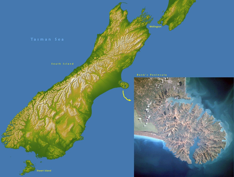 New Zealand Topographic Map.New Zealand Image