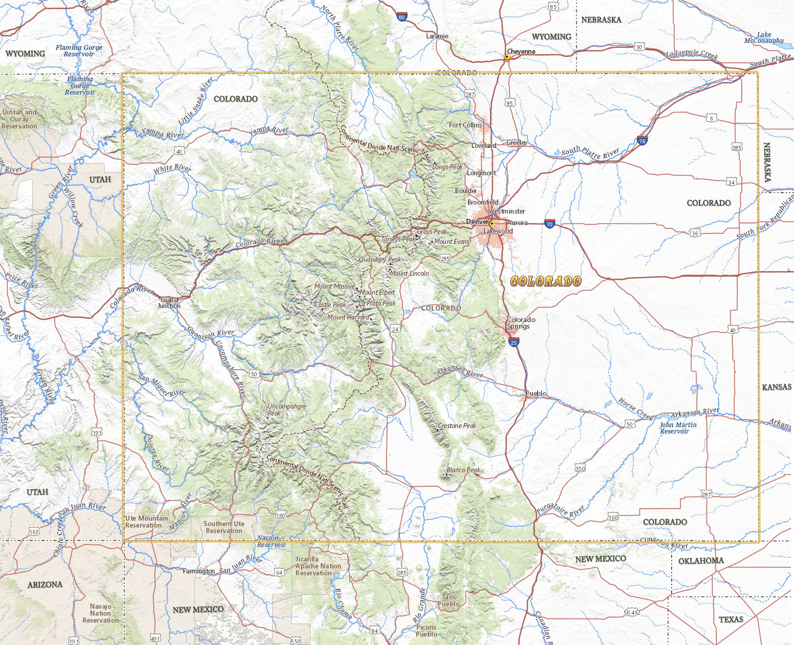 Map of Colorado - Travel United States