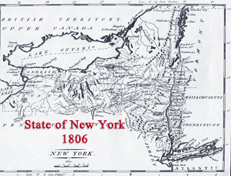 Map State New York 19th century