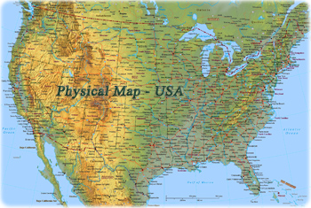 Physical Map USA